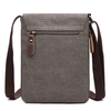 Image of Casual Men's Canvas Shoulder Bag - Grey