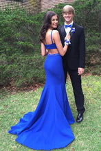 Load image into Gallery viewer, Simple Mermaid Open Back Royal Blue Prom Dresses For Teens Long Prom Dress XHLPST15394