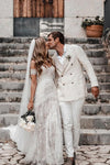 Gorgeous Sweetheart Low Back Lace Wedding Dresses Long Bridal XHLPST20463