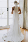 Spaghetti Straps Lace Country Wedding Dress Mermaid Backless Wedding Gowns XHLPST15415