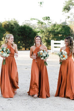 Load image into Gallery viewer, Simple Long Halter Bridesmaid Dresses A-Line Backless Sexy Bridesmaid Dress XHLPST15392