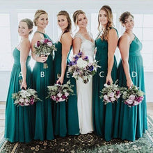 Load image into Gallery viewer, Elegant A Line Green Floor Length Bridesmaid Dresses Long Prom XHLPST20460
