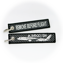 Keyring Airbus A350 CARBON / Remove Before Flight (airplane)