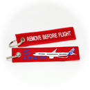 Keyring Airbus A350 / Remove Before Flight (red)
