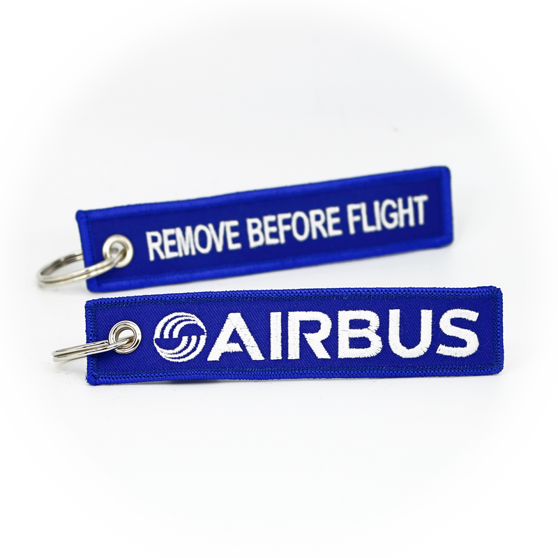 Keyring Airbus / Remove Before Flight (blue)