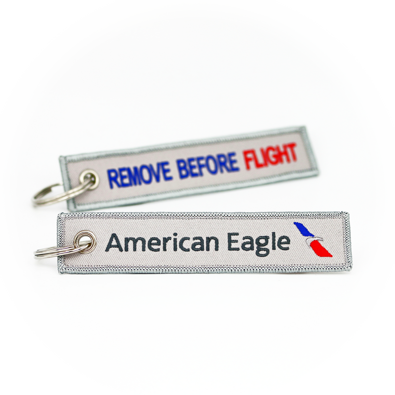 Keyring American Eagle / Remove Before Flight (new logo)