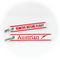 Keyring AUA Austrian Airlines / Remove Before Flight (white)
