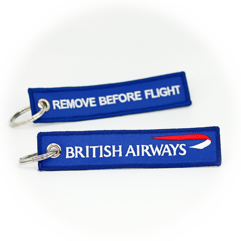 Keyring British Airways / Remove Before Flight (blue)
