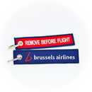 Keyring Brussels Airlines / Remove Before Flight (red/blue)