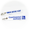 Keyring Continental Airlines / Remove Before Flight (white/blue)