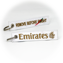 Keyring Emirates Airlines / Remove Before Flight (white)