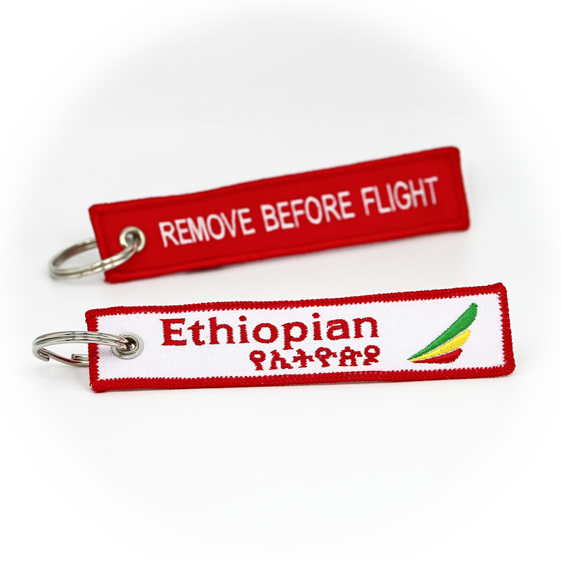 Keyring Ethiopian Airlines / Remove Before Flight (black)
