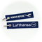 Keyring Lufthansa / Remove Before Flight (white/blue)