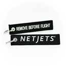 Keyring Netjets / Remove Before Flight