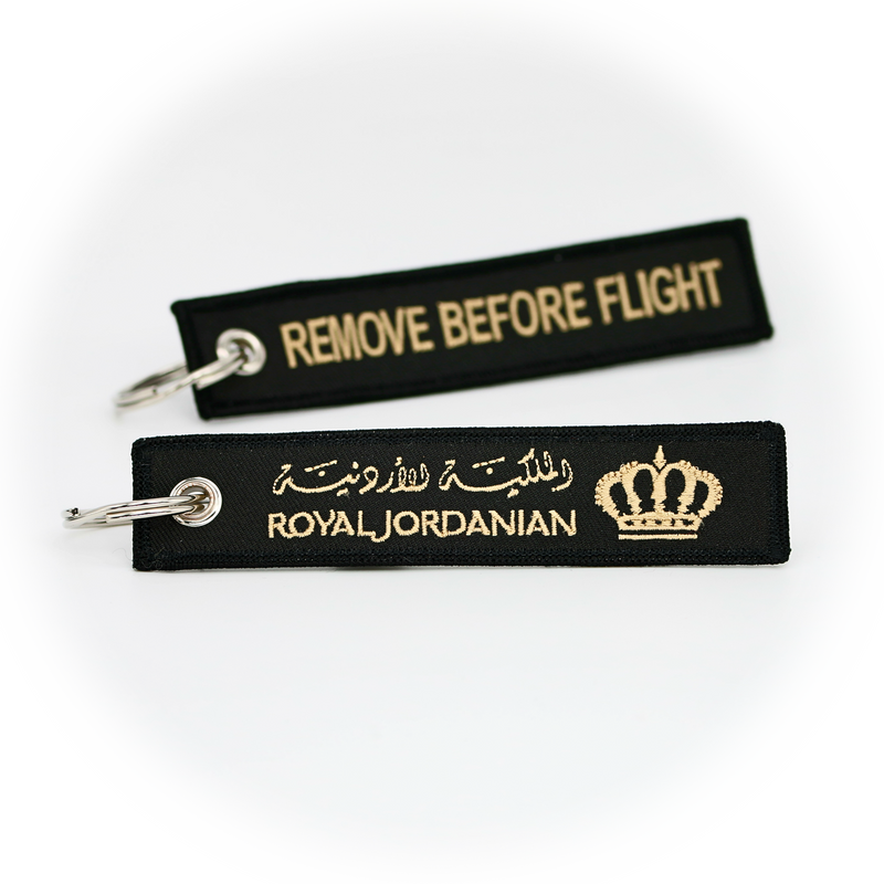 Keyring Royal Jordanian / Remove Before Flight