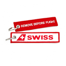 Keyring SWISS / Remove Before Flight (logo)