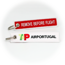Keyring TAP Air Portugal / Remove Before Flight (red)