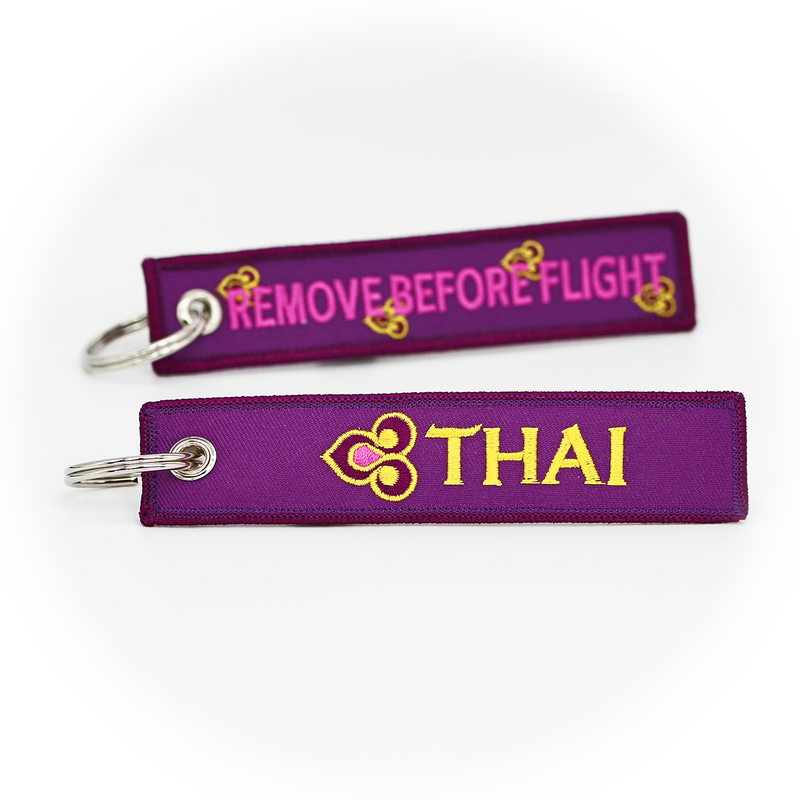 Keyring Thai Airways / Remove Before Flight (purple)