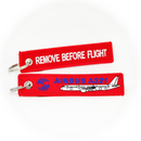 Keyring Airbus A321 / Remove Before Flight (red)