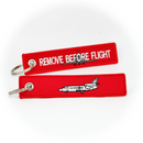 Keyring Dassault Falcon 900 (red) / Remove Before Flight