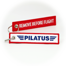 Keyring Pilatus Company / Remove Before Flight
