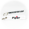 Keyring Piper Aircraft Company / Remove Before Flight (white)