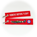 Keyring Supermarine Spitfire RAF WW2 / Remove Before Flight