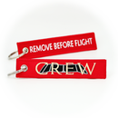 Keyring CREW with Cockpit Windows / Remove Before Flight (red)