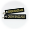 Keyring Crew Baggage (black/gold)