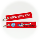 Keyring Eurocopter AS350 / Airbus H125 Helicopter / Remove Before Flight