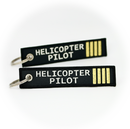 Keyring Helicopter Pilot (black/gold)