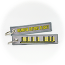 Keyring Apron Parking Lines / Remove Before Flight