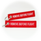 Keyring Remove Before Flight (regular size) - *classic* red