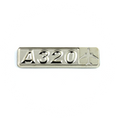 Pin Airbus A320 (rectangle with airplane silhouette)
