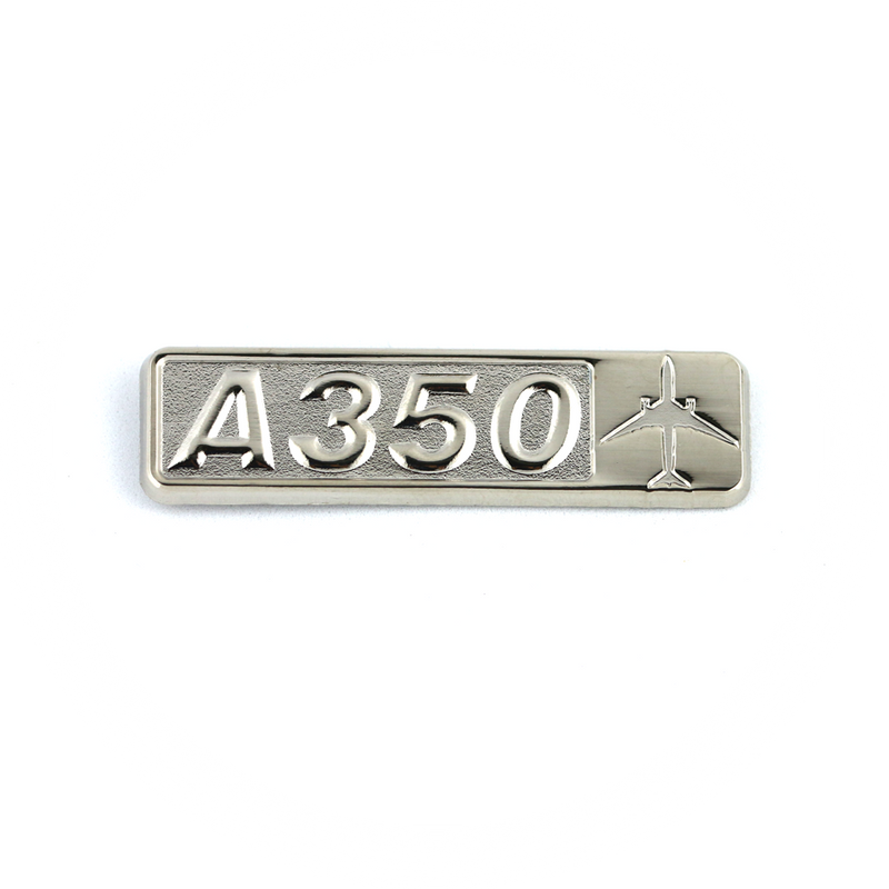 Pin Airbus A350 (rectangle with airplane silhouette)