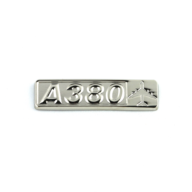 Pin Airbus A380 (rectangle with airplane silhouette)