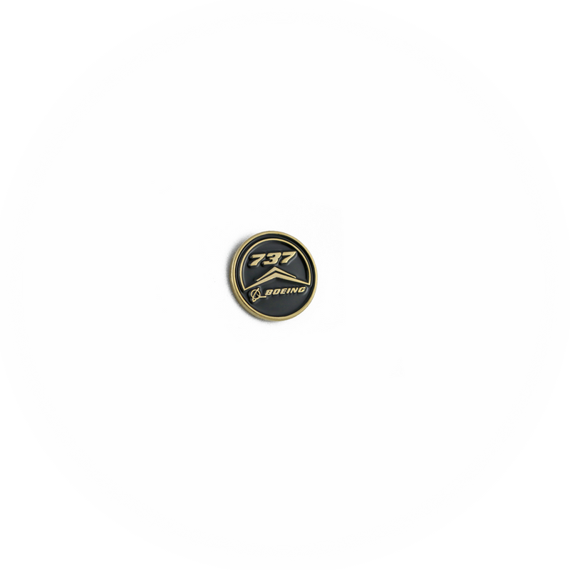 Pin Boeing 737 (round black)