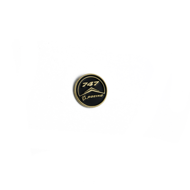 Pin Boeing 747 (round black)
