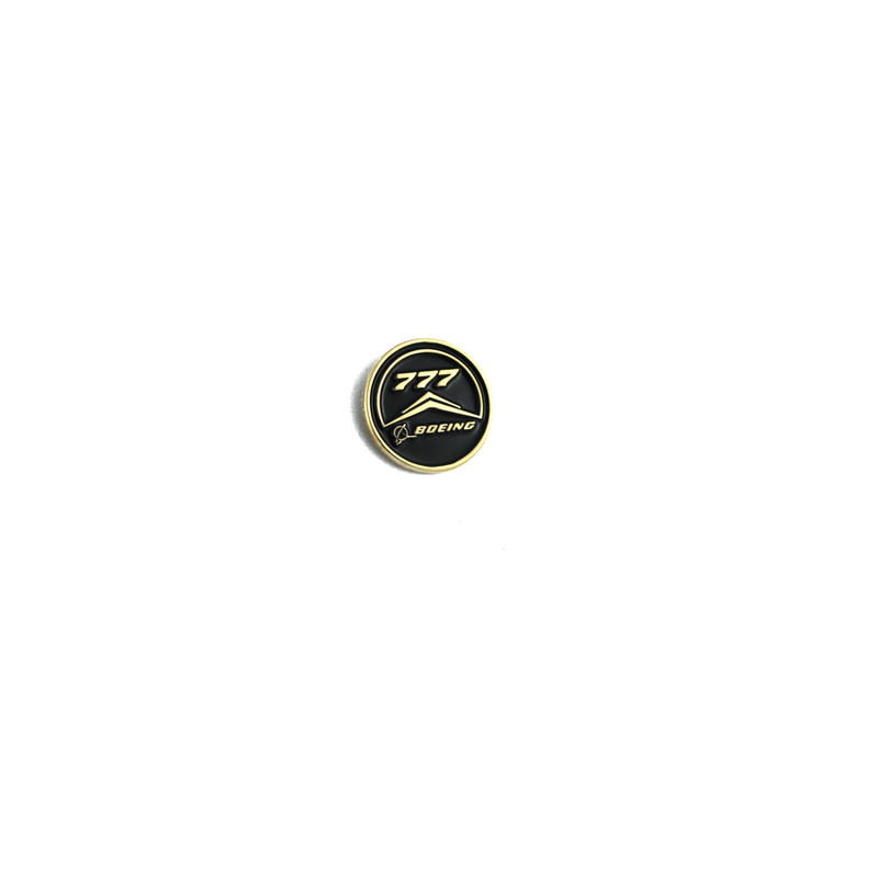 Pin Boeing 777 (round black)