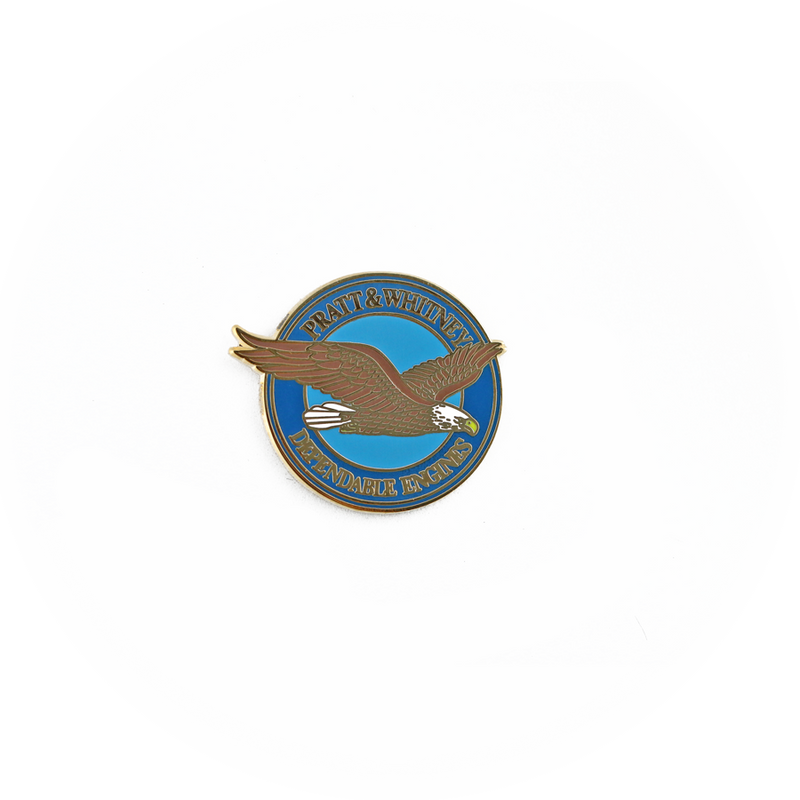 "Pin Pratt & Whitney Dependable Engines ""Eagle Pin"""