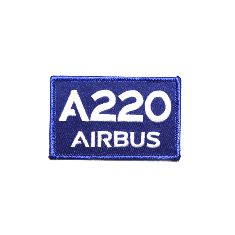 Patch Airbus A220 blue/rectangle