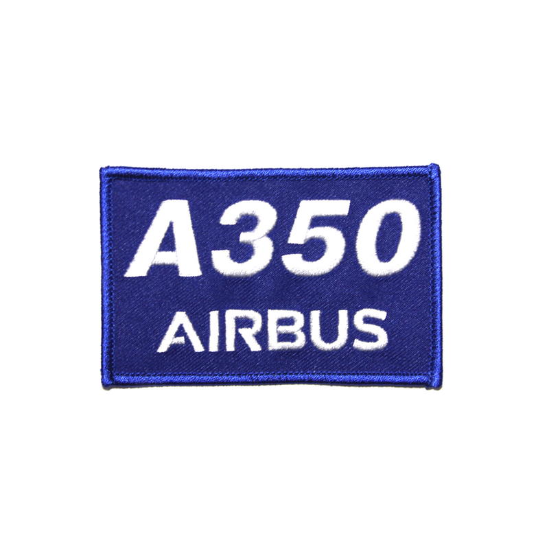 Patch Airbus A350 rectangle/blue