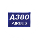 Patch Airbus A380 rectangle/blue