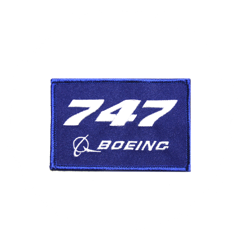 Patch Boeing 747 blue/rectangle