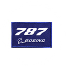 Patch Boeing 787 blue/rectangle
