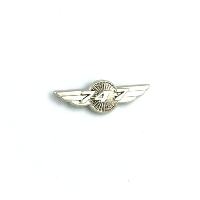 Wing Pin Boeing 747 silver