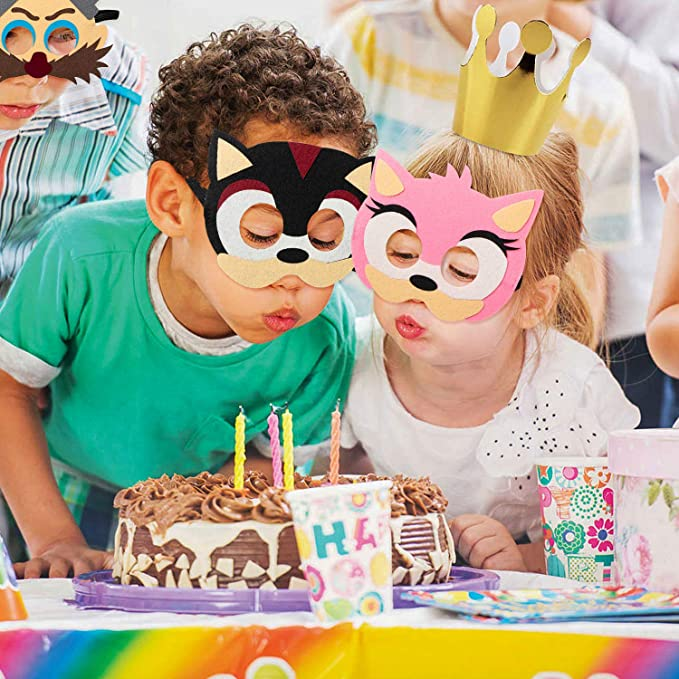 12pcs Sonic Felt Masks Themed Party Supplies Birthday Hedgehog Party Safetung