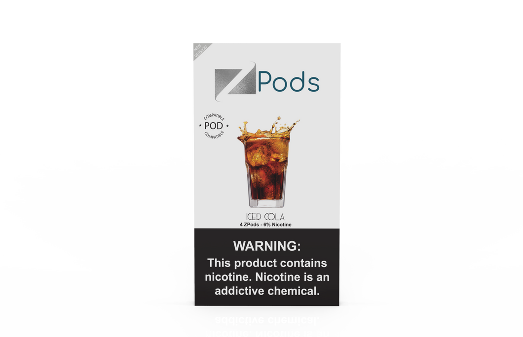 ZiiP Pods compatible to JUUL with nic salt - Iced Cola - ZiiP Lab Oceania ZLab