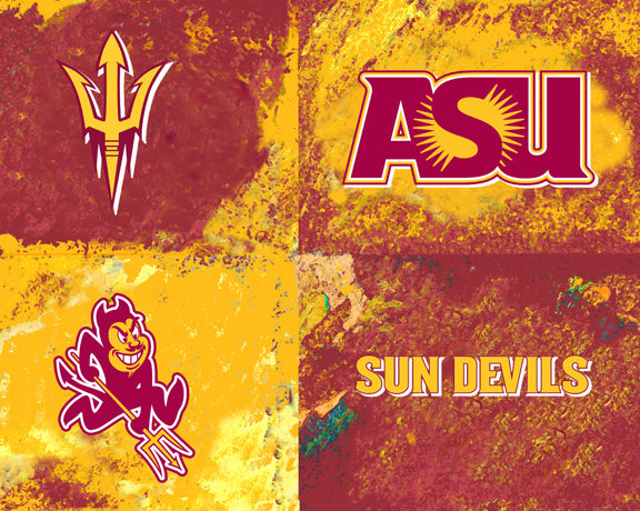 Arizona State Logos by artist Richard Russell