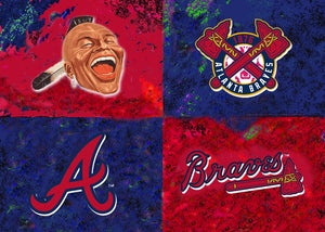 Atlanta Braves Logos by artist Richard Russell